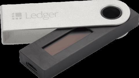 Nano Ledger S hardware wallet voor het veilig opslaan van cryptocurrency